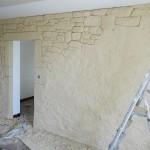 Mur intérieur Calypierre pendant travaux